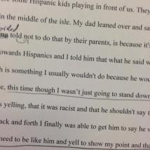 underlined essay